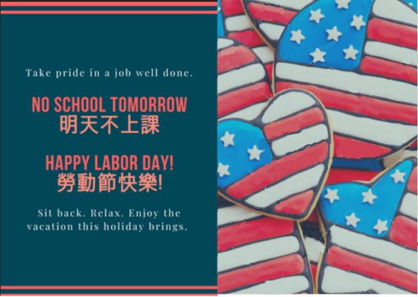 Happy Labor day no school